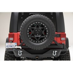 Rear Steel Bumper Smittybilt SRC tire carrier - Jeep Wrangler JK