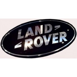 Land Rover Badge - Black & Silver