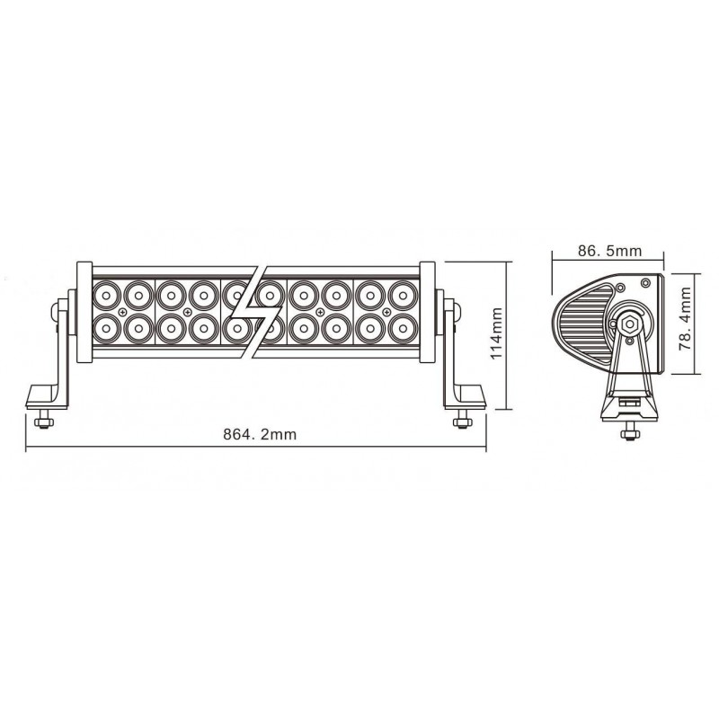 LED Light Bar NSL-18060-180W