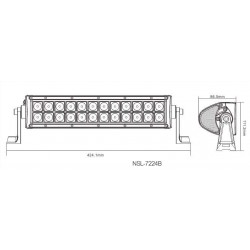 CREE LED Light Bar NSL-7224B-72W