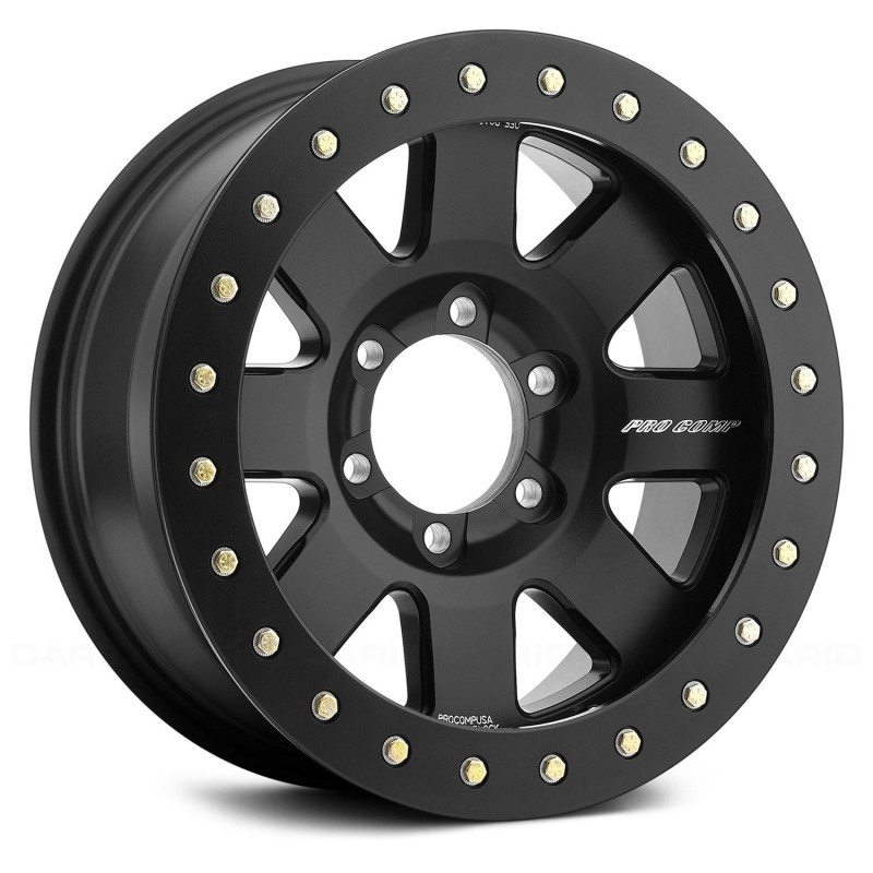 "Alloy wheel 9x17"" 5x127 ET -5 ProComp Vapor 2 BEADLOCK Black - Jeep Wrangler JK"