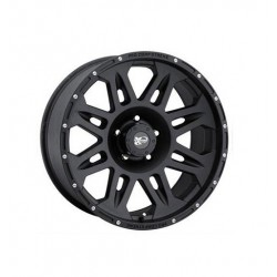 "Alloy Wheel 9x17"" 5x127 ET -6 - ProComp Model 7005 Flat Black - Jeep Wrangler JK"