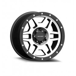"Alloy Wheel 9x17"" 5x127 ET -6 - ProComp Model 3541 Satin Silver & Black - Jeep Wrangler JK"