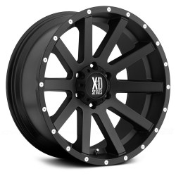"Alloy Wheel 8x18"" 5x127 ET35 XD Series Model 818 Black - Jeep Wrangler JK"