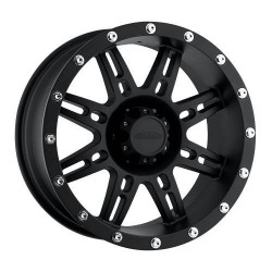 "Alloy Wheel 9x18"" 5x127 ET 0 - ProComp Model 5034 Satin Black - Jeep Wrangler JK"