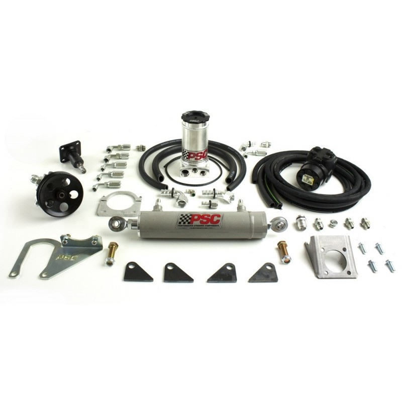 "Full Hydraulic Steering Kit with 2.5"" bore 8"" Stroke Single Ended Steering Cylinder"