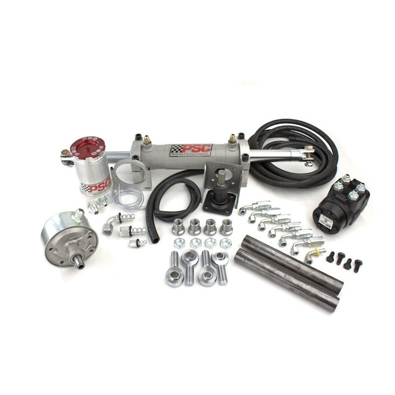 "PSC Motorsports Extreme Series 2.75"" Double End Steering Cylinder Kit with P-Pump"