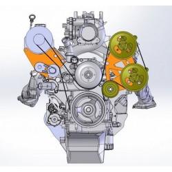GM LS Truck Dual TC Pump Brackets, Truck Spacing