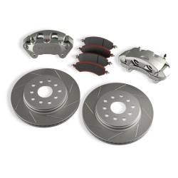 Front Big Brake Kit with Slotted Rotors Teraflex - Jeep Wrangler JK 07-18