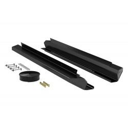 Door Aluminum Rock Slider Kit Powder Coat Teraflex - Jeep Wrangler JK 2 Doors
