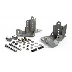 Heavy-Duty Rear Shock Skid Plates Teraflex - Jeep Wrangler JK 2/4 Doors