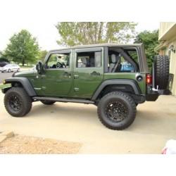 Alloy Wheel 8x17 5x127 Et 0 Procomp Model 7005 Flat Black Jeep Wrangler Jk