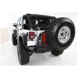 Rear Steel Bumper Smittybilt ATLAS tire carrier - Jeep Wrangler JK